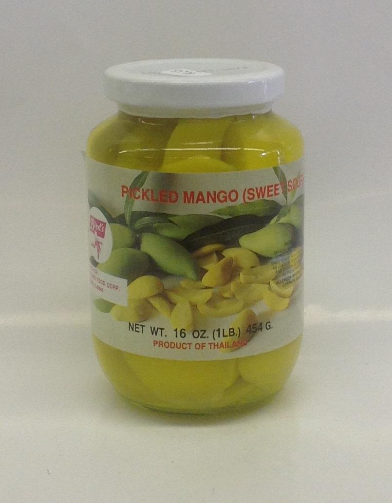 Pickled Mango Sweet Sour, Sliced   Bird's   PK15101 24x16 oz