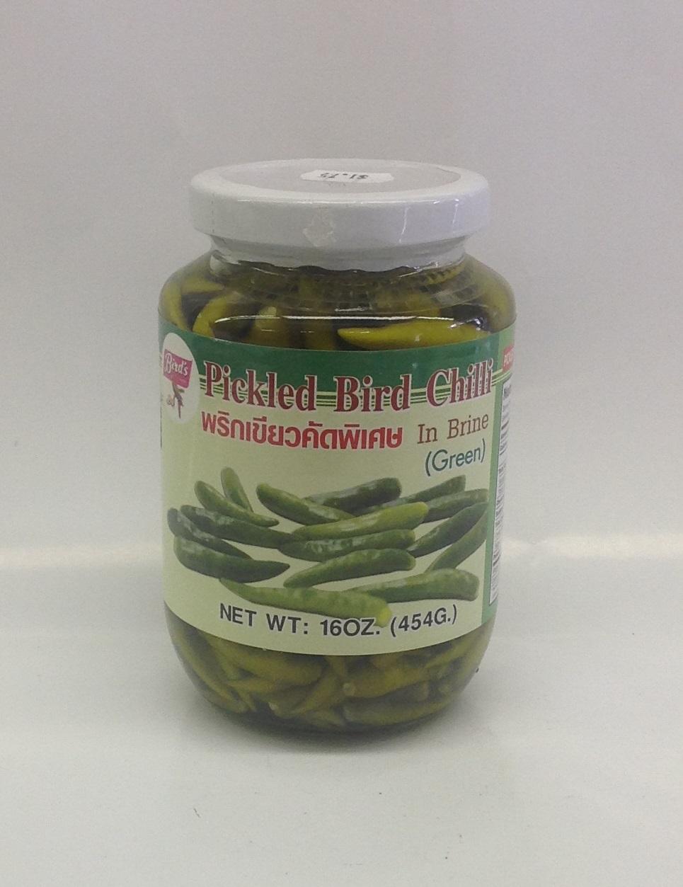 Pickled Bird Chili (Green)   Bird's   PK13107 24x16 oz