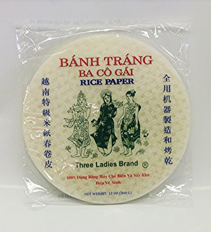 Rice Paper   3 Ladies   RP14307 44 bags x 12 oz (22 cm)  RP14309 44 bags x 12 oz (25 cm)