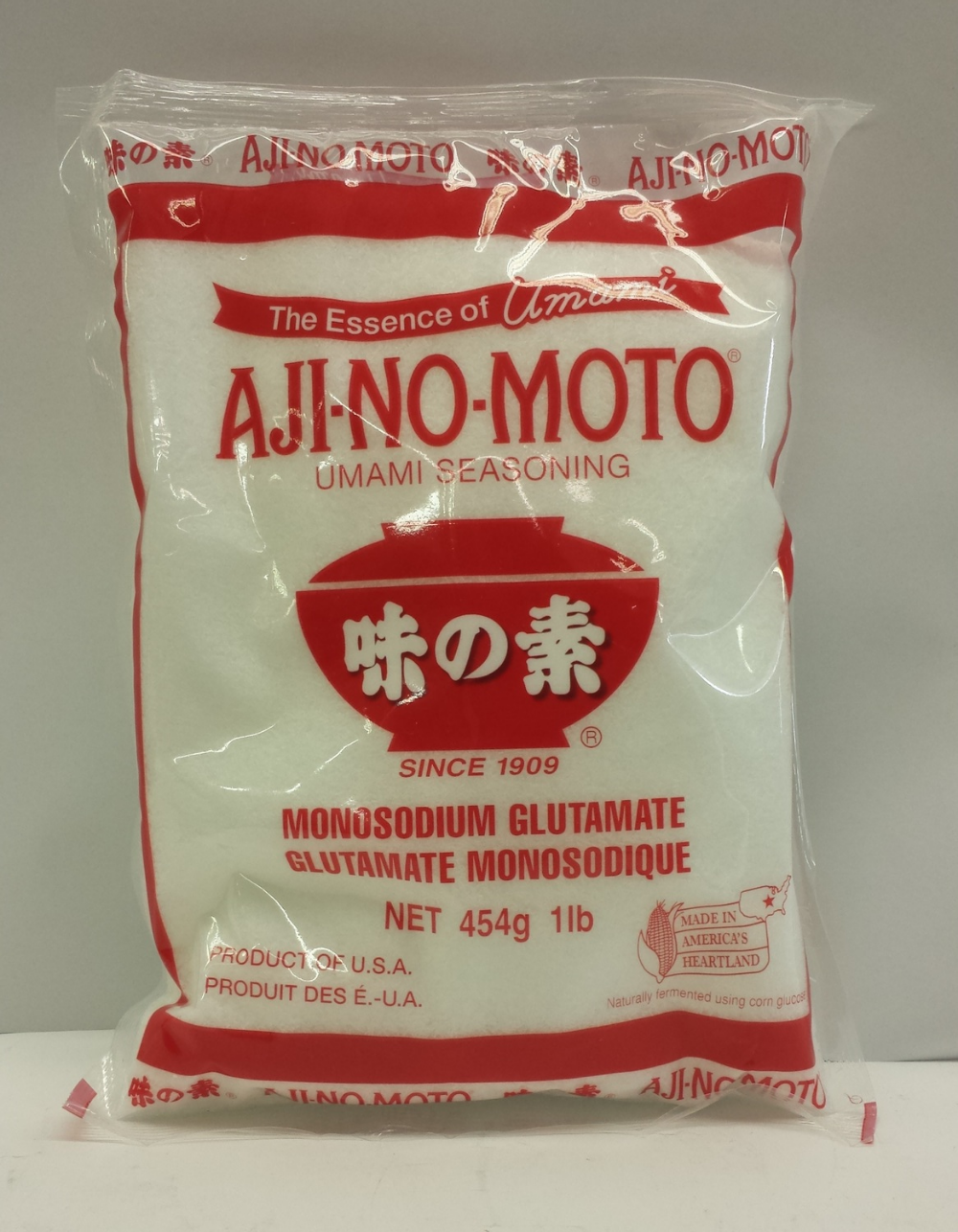 M.S.G.   Aji-No-Moto   MSG1010 48x16 oz (Bag)  MSG1011 48x16 oz (Box)