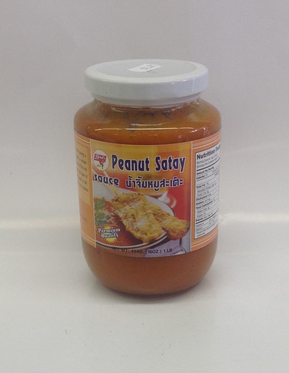 Peanut Satay Sauce   Bird's   SA17010 24x16 oz