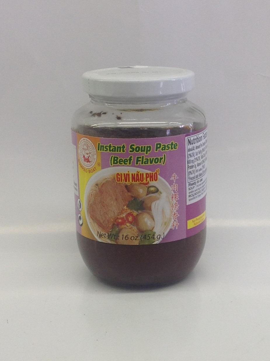 Instant Soup Paste, Beef   Sumpao Boat   SEI1332 24x16 oz