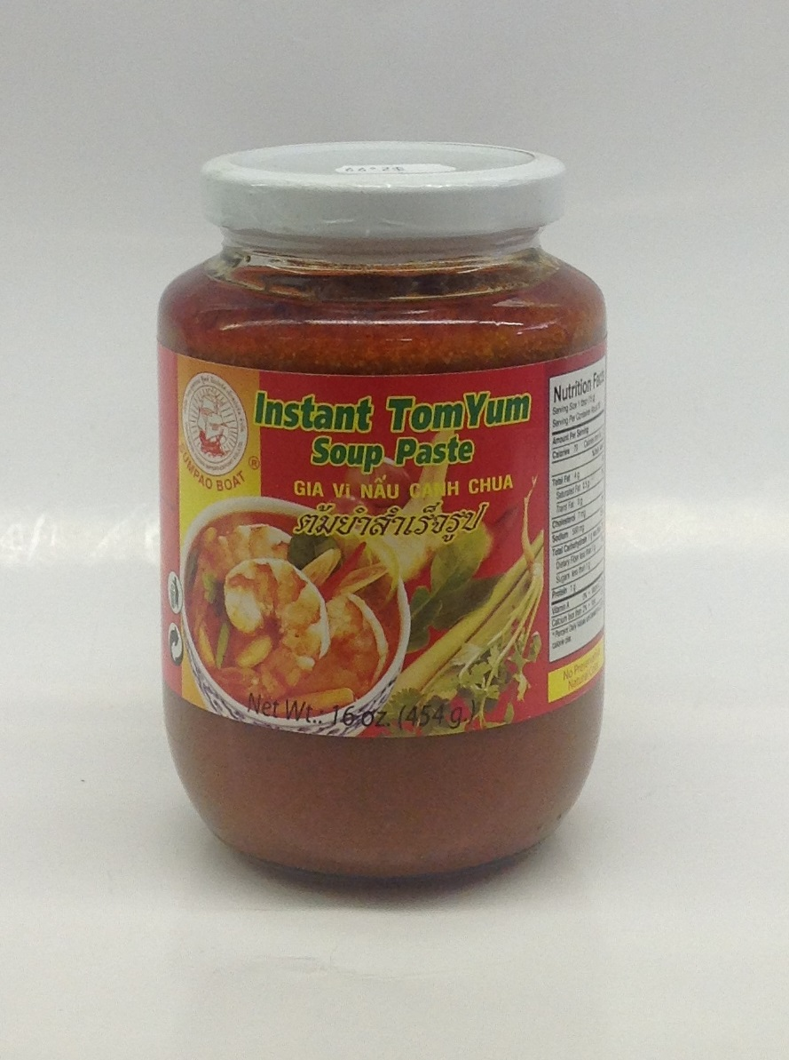 Instant Tom Yum Soup Paste   Sumpao Boat   SEI1725 24x16 oz