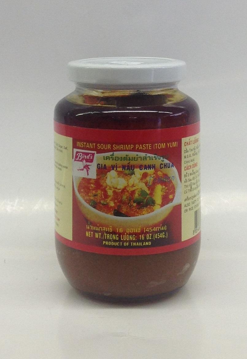 Instant Soup Shrimp Paste (Tom Yum)   Bird's   SEI1711 24 jar x 16 oz