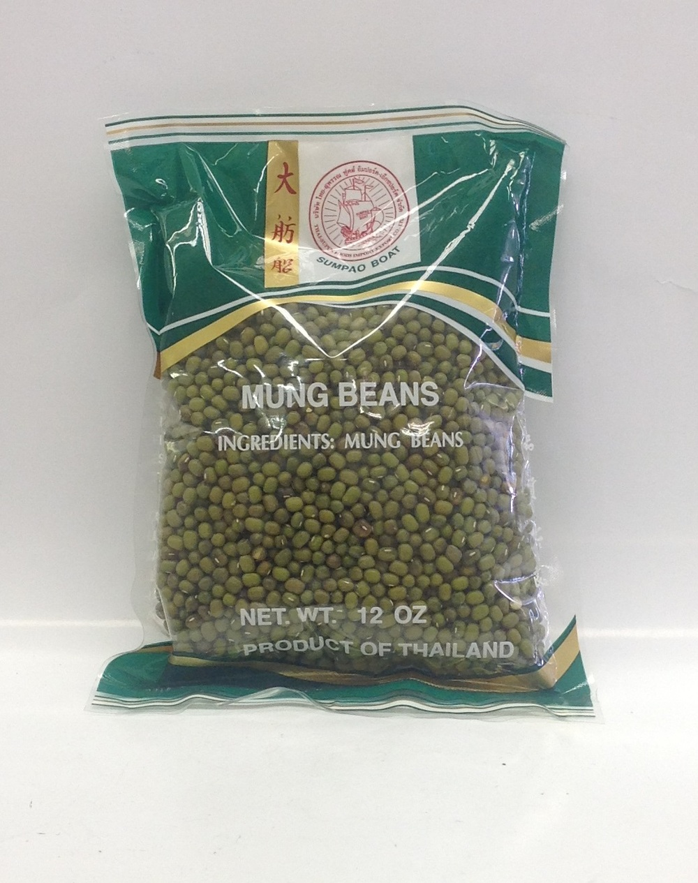 Dried Green Mung Bean   Sumpao Boat   DRV3106 50x12 oz