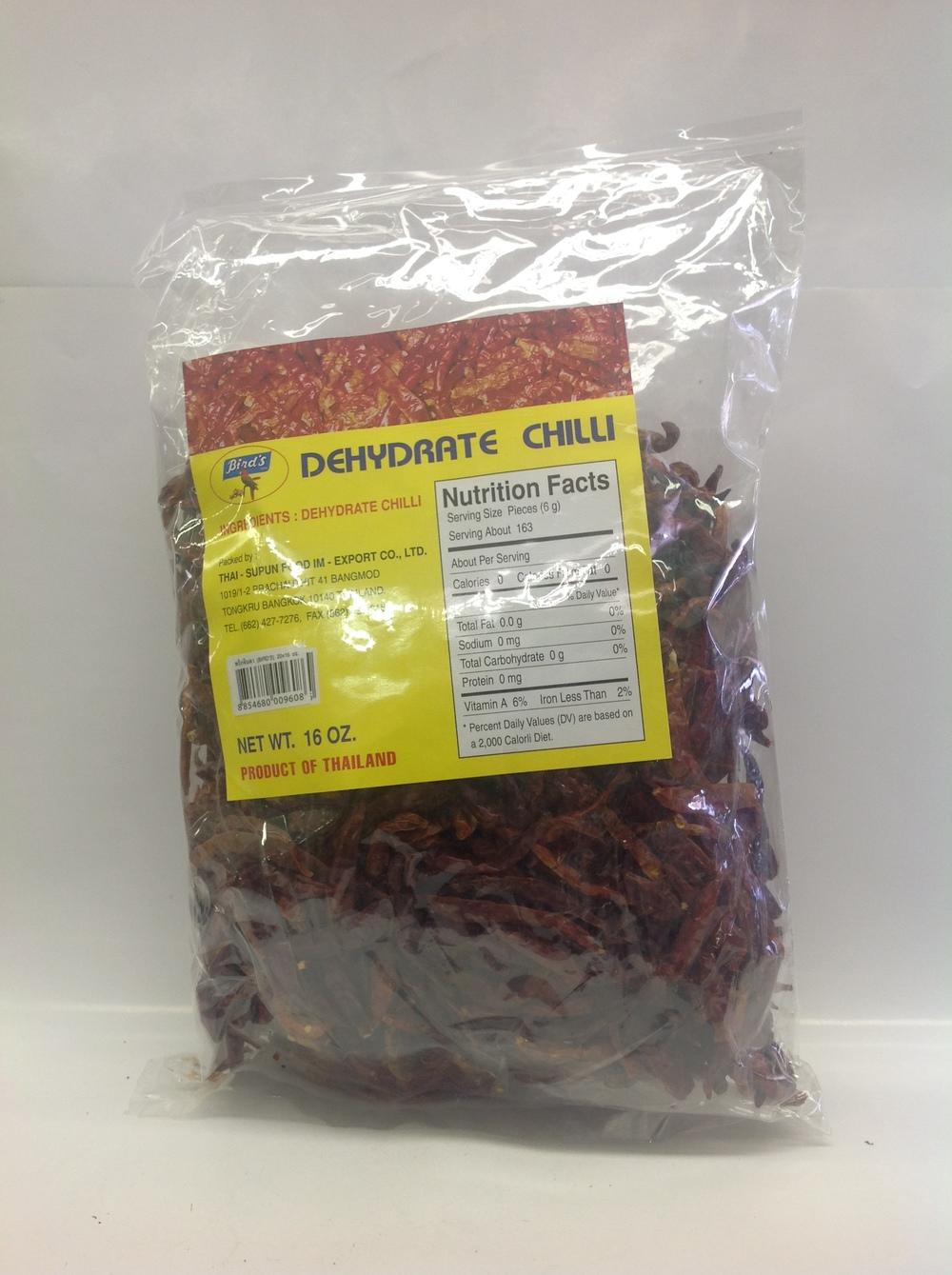 Dried Red Chili, Jinda   Bird's   DRV6205 20x16 oz