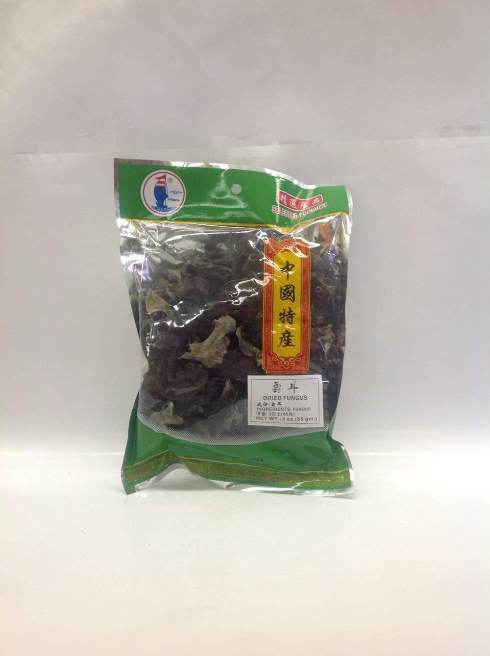 Dried Black Fungus   Hocean   DRV1211 100x2.5 oz (Small)  DRV1216 100x2.5 oz (Strip)  DRV1219 100x2.5 oz (Whole)