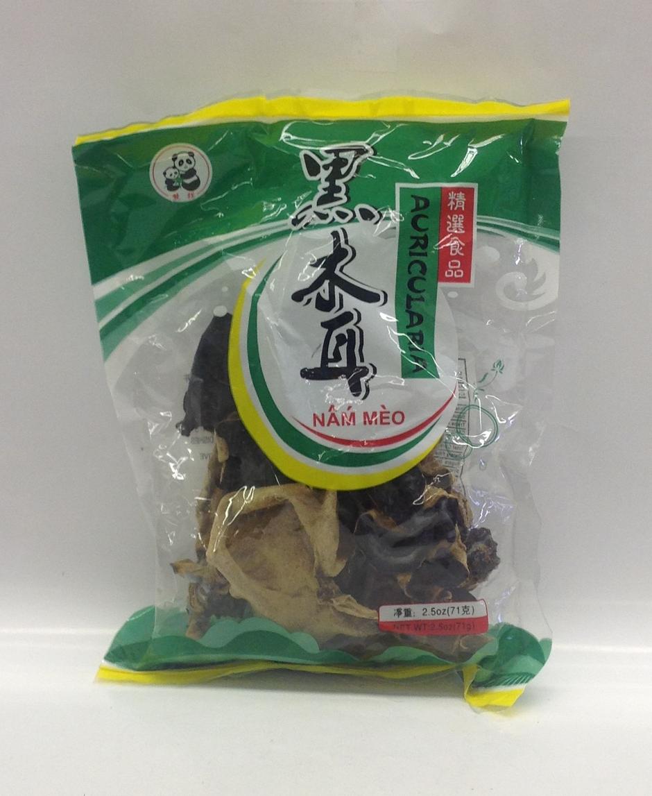 Dried Black Fungus   Panda   DRV1214 100x2.5 oz (Whole)  DRV1216B 2.5 oz (Strip)