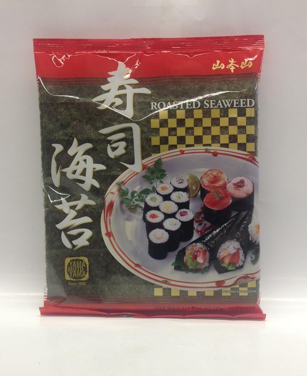 Sushi Nori (Sushi Seaweed)   Yamamoto   DRV7207 4x12x10 sheets