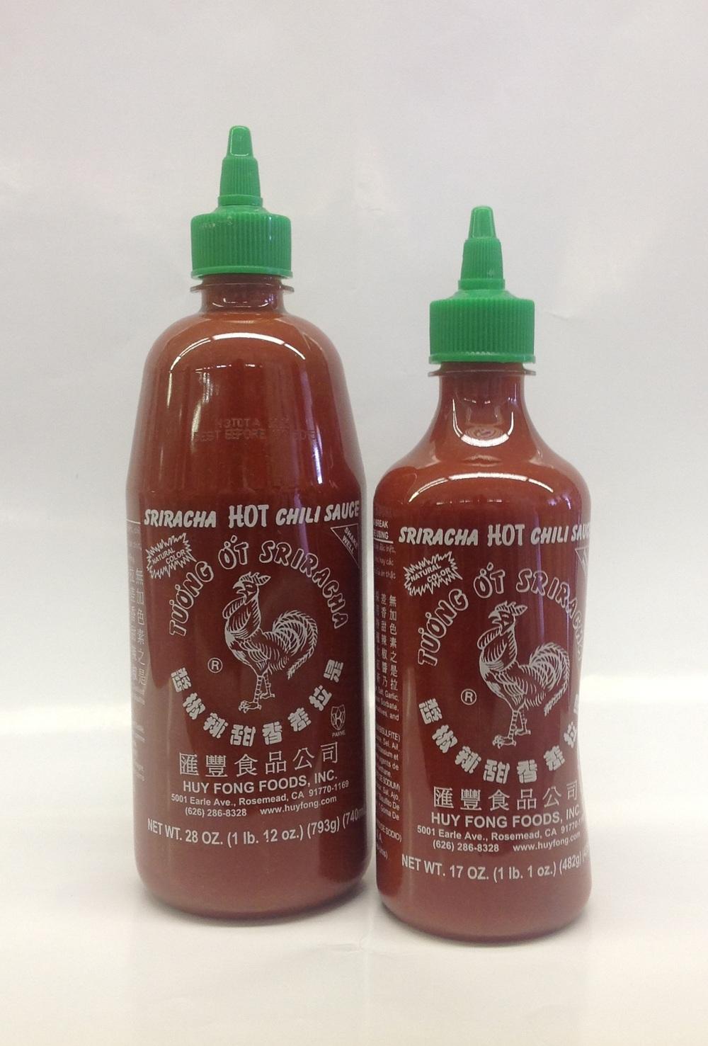 Sriracha Chili Sauce   Huy Fong   SA17071 12x17 oz  SA17072 12x28 oz