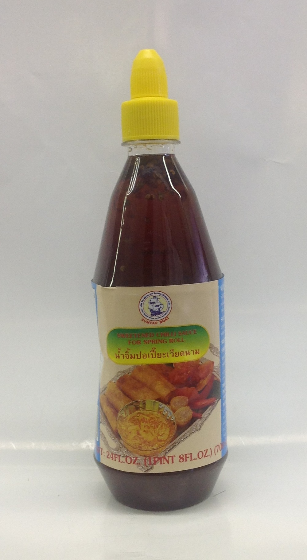 Sweetened Chili Sauce for Spring Roll   Sumpao Boat   SC16217 12x30 oz