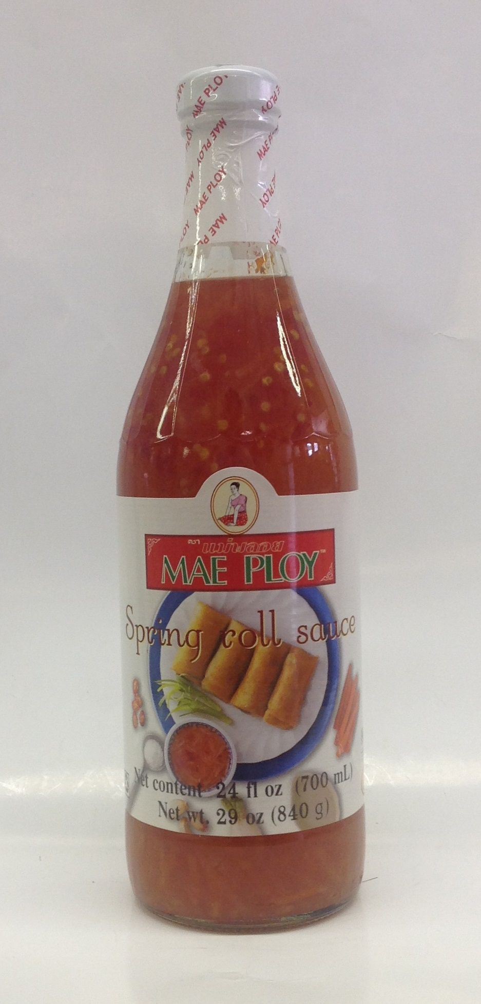 Sweet Chili sauce for Spring Roll   Mae Ploy   SC16210 12x24 oz