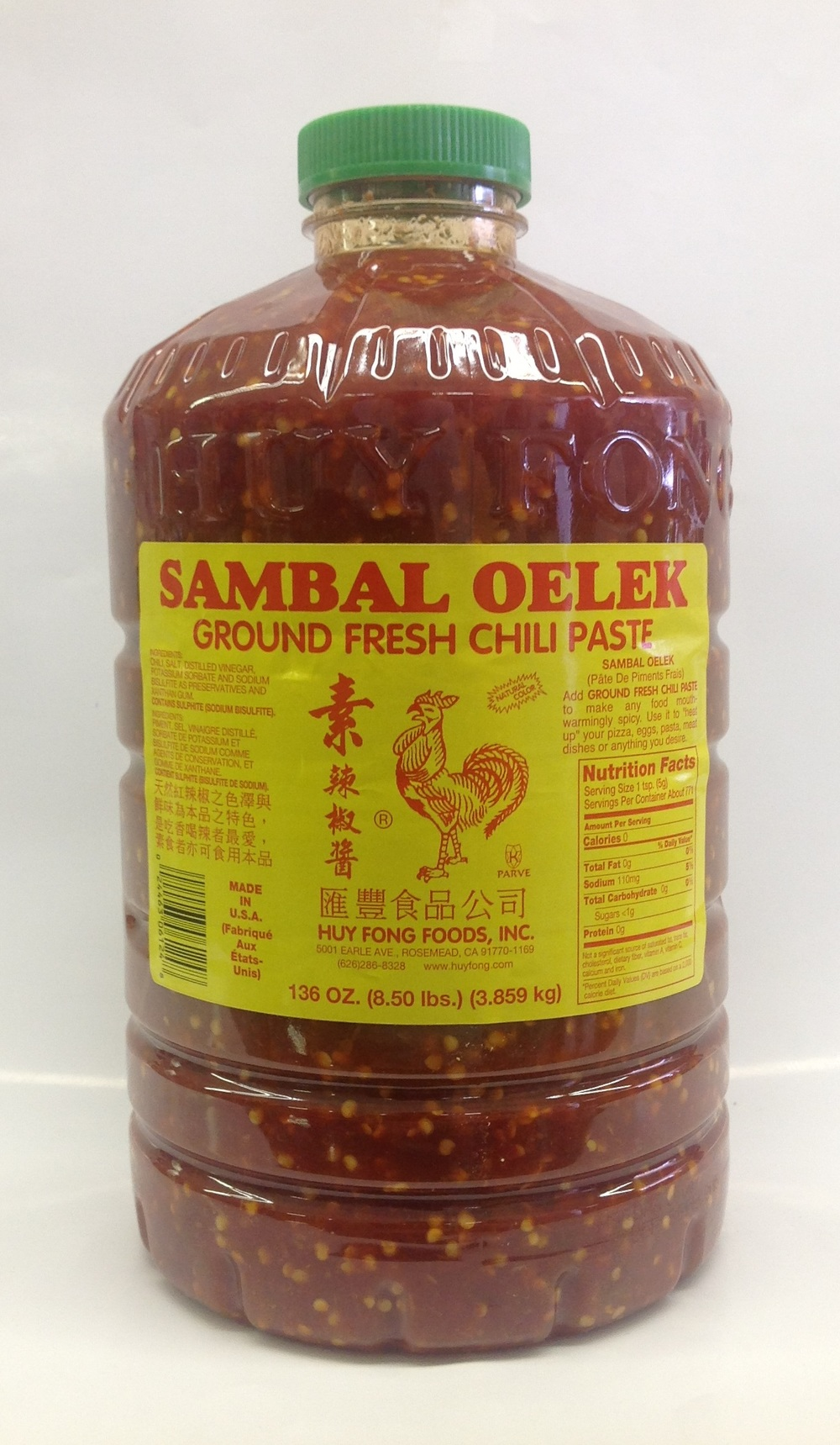 Sambal Oelek   Huy Fong   SA17003 4x8.5 lbs