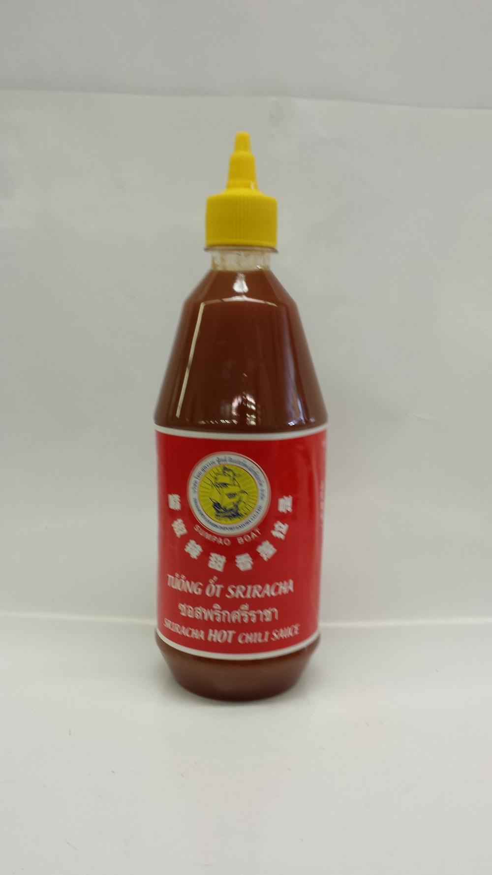 Sriracha Chili Sauce   Sumpao Boat   SA17075 12x28 oz
