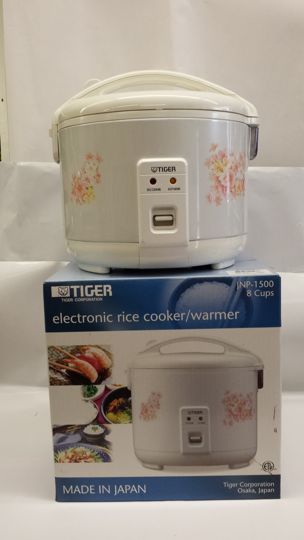 Rice Cooker   Tiger   RC28010 4x3 cups  RC28012 4x4 cups  RC28014 4x5.5 cups  RC28016 4x8 cups  RC28019 4x10 cups  RC28021 2x15 cups  RC28023 20 cups