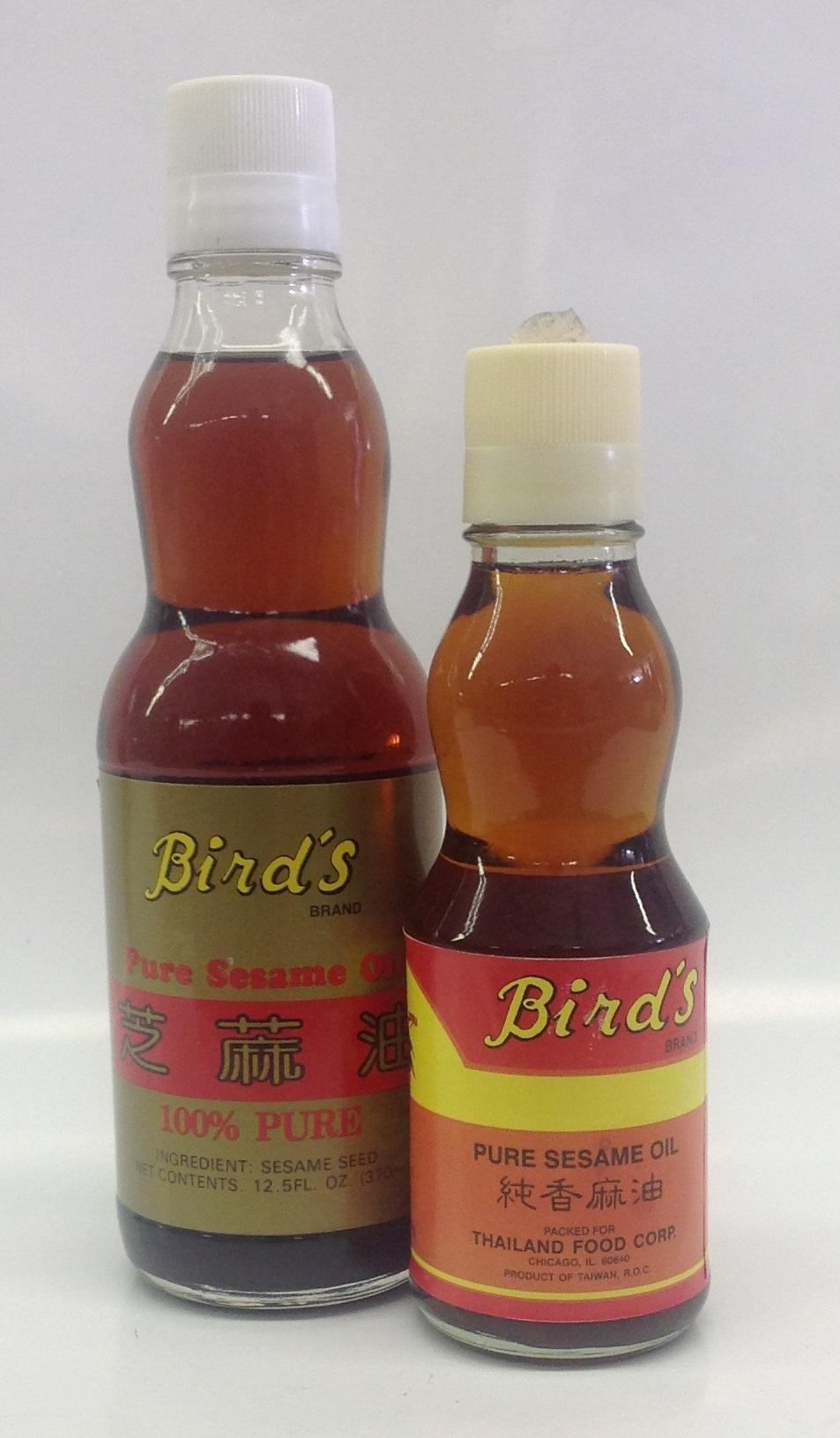 Sesame Oil (Pure)   Bird's   OIL1005 24x6 oz  OIL1007 24x12 oz