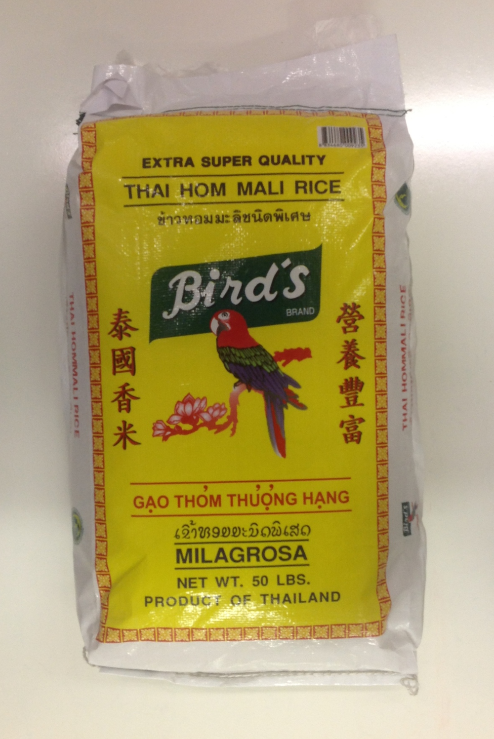 Thai Jasmine Rice   Bird's   JR11102 50 lbs (2014)