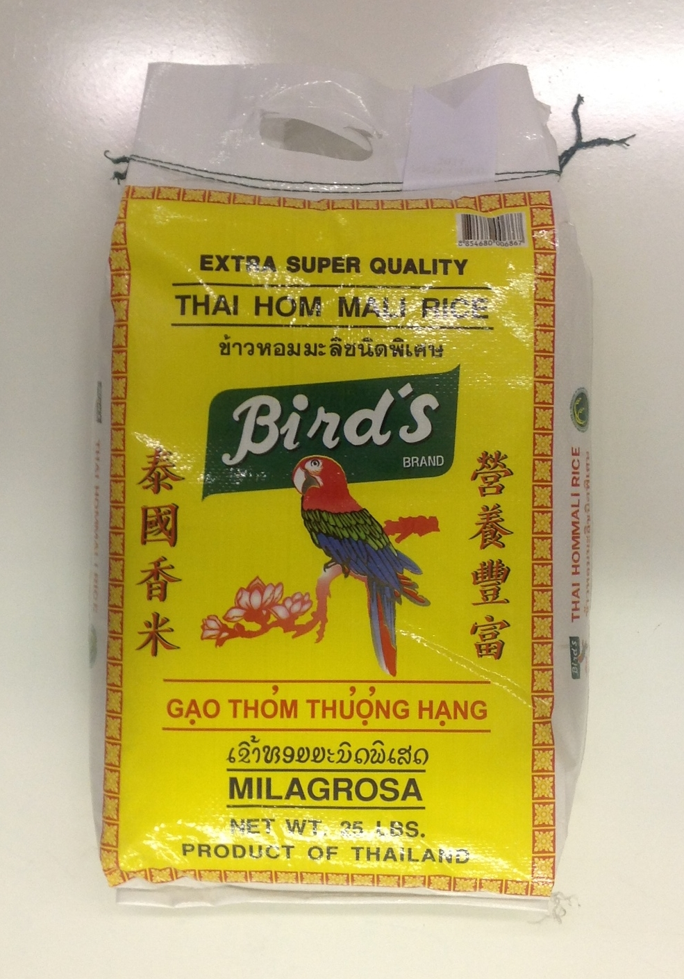 Thai Jasmine Rice   Bird's   JR11101 25 lbs (2014)