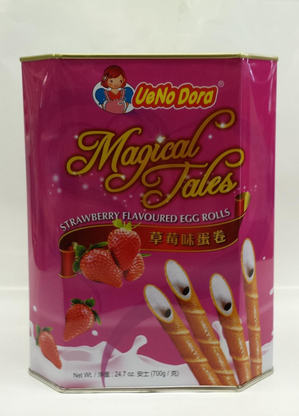 Magical Tales Egg Roll, Strawberry   UeNoDora   CK12209 6x700 g