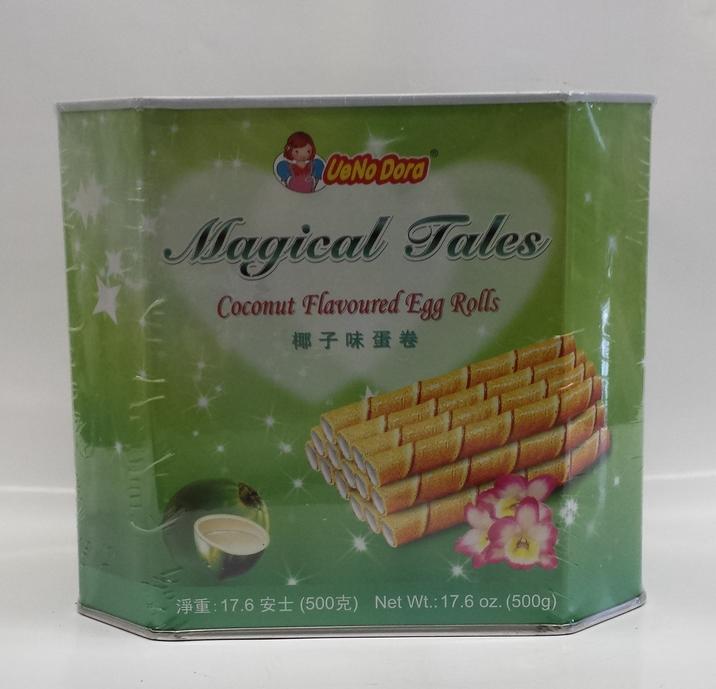 Magical Tales Egg Roll, Coconut   UeNoDora   CK12207 12x500 g