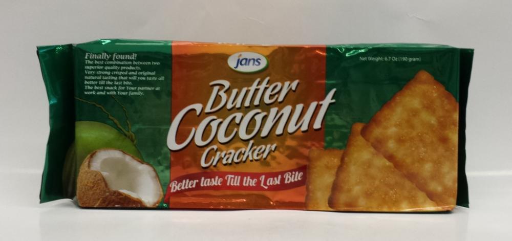 Butter Coconut Cracker   Jans   CK11204 24x6.7 oz