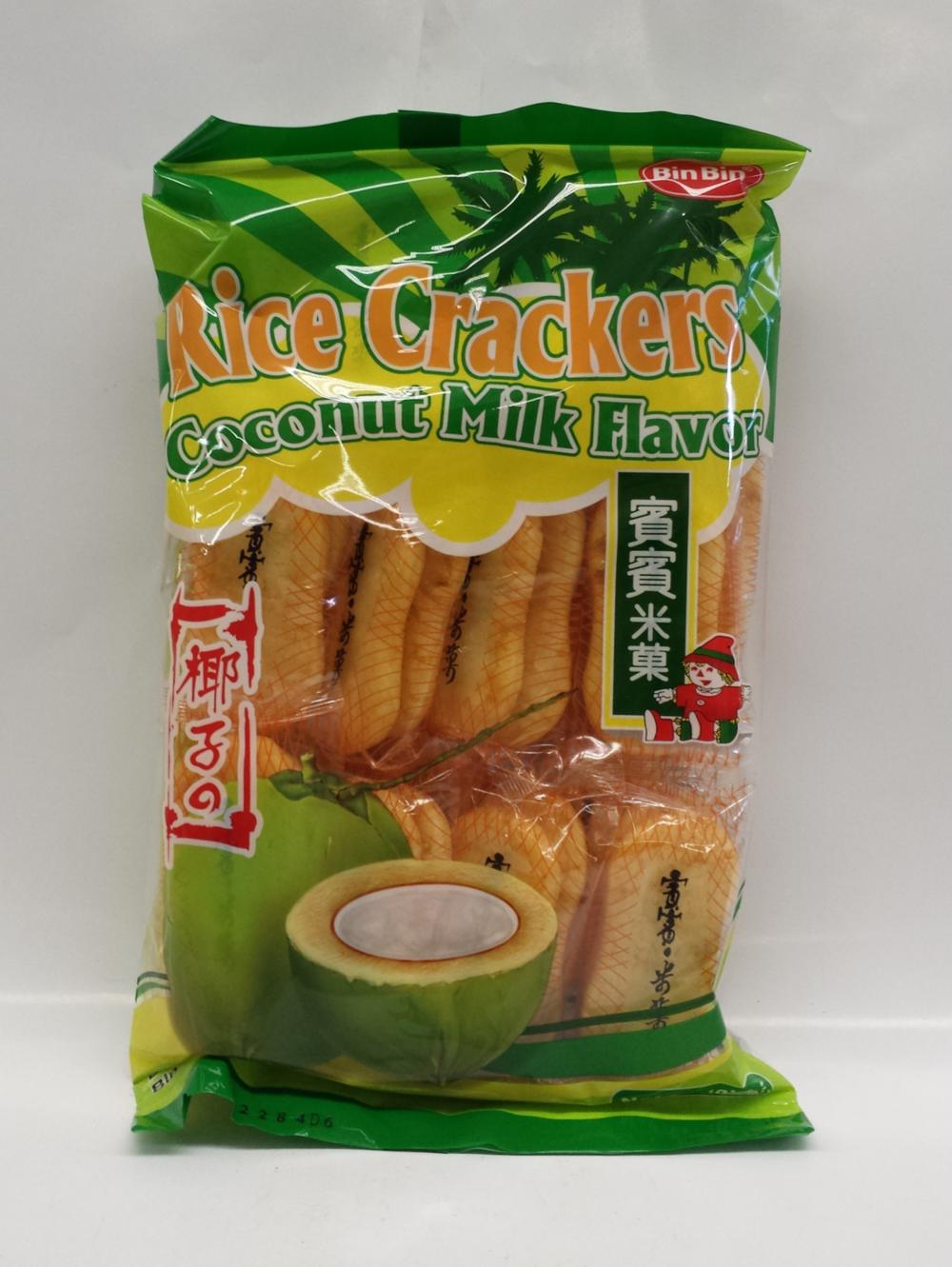 Rice Crackers, Coconut Milk   Bin Bin   CK16626 20x5.2 oz