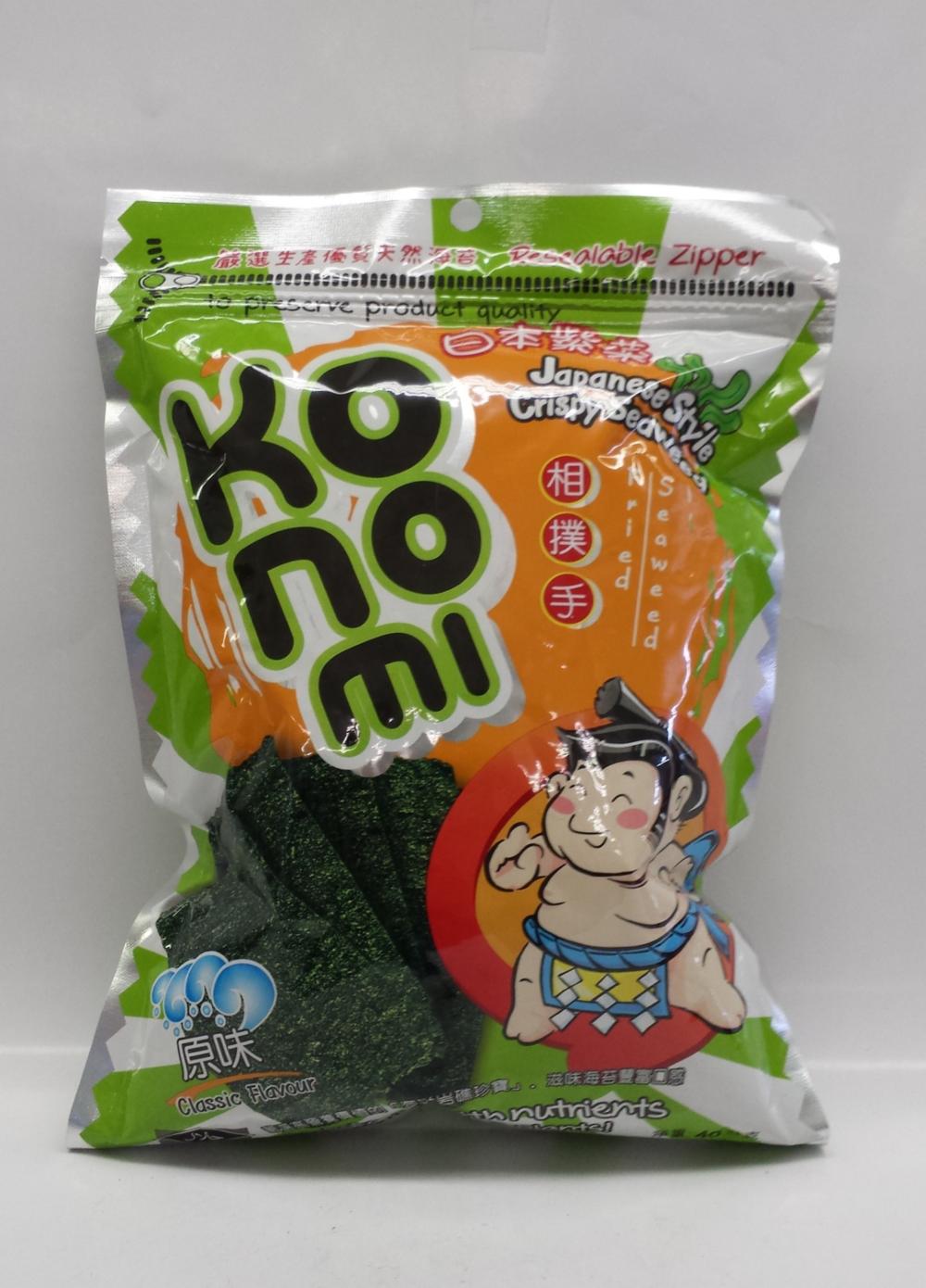 Seaweed, Classic   Konomi   SN14207 8x6x1.4 oz