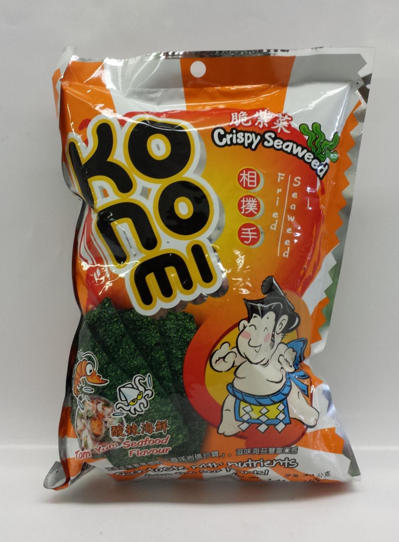 Seaweed, spicy   Konomi   SN14209 8x6x1.4 oz  SN14208 8x6x1.4 oz (Tom Yum)