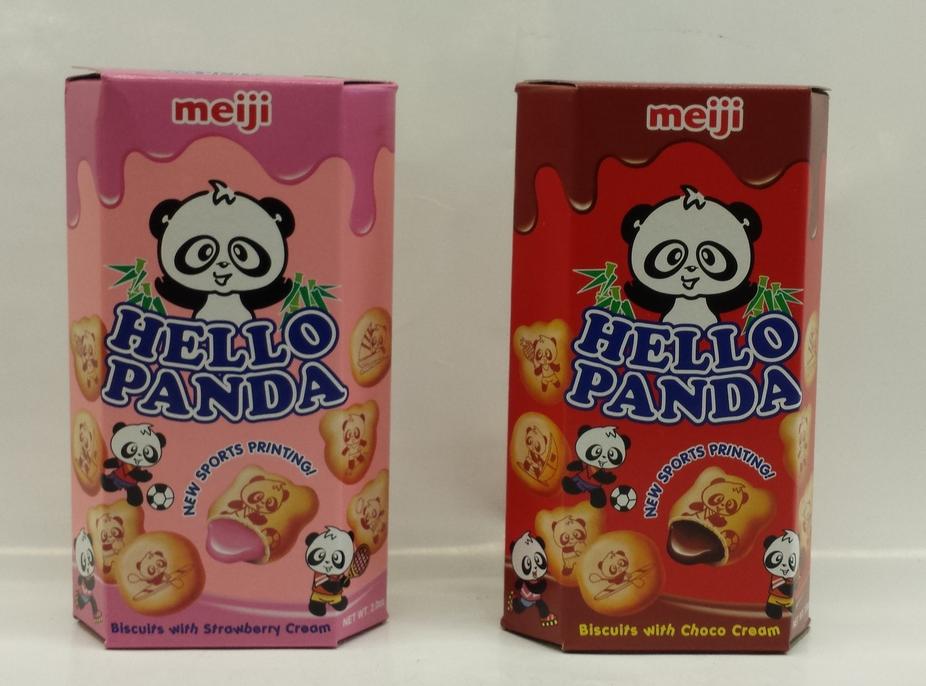Hello Pando   Meiji   CK15124 8x10x2 oz (Chocolate)  CK15125 8x10x2 oz (Strawberry)