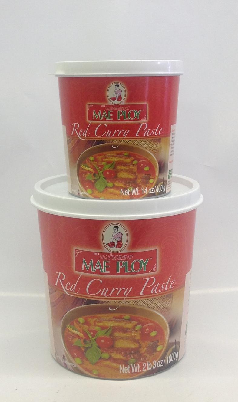Red Curry Paste    น้ำพริกแกงเผ็ด    Mae Ploy    CR16610 24x14 oz    CR16611 12x35 oz