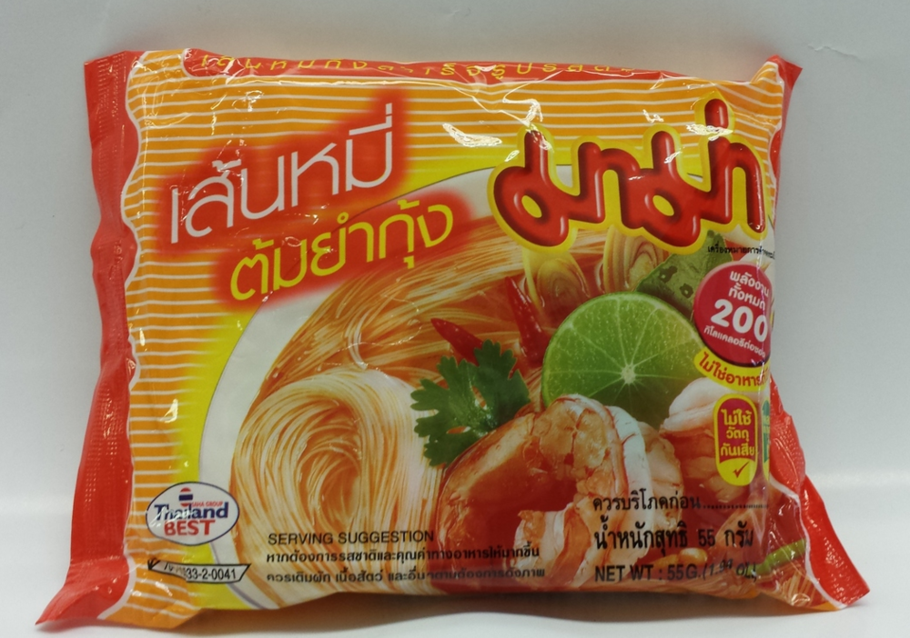Rice Vermicelli, Tom Yum Kung   Ma Ma   ND21181 6x30x1.9 oz