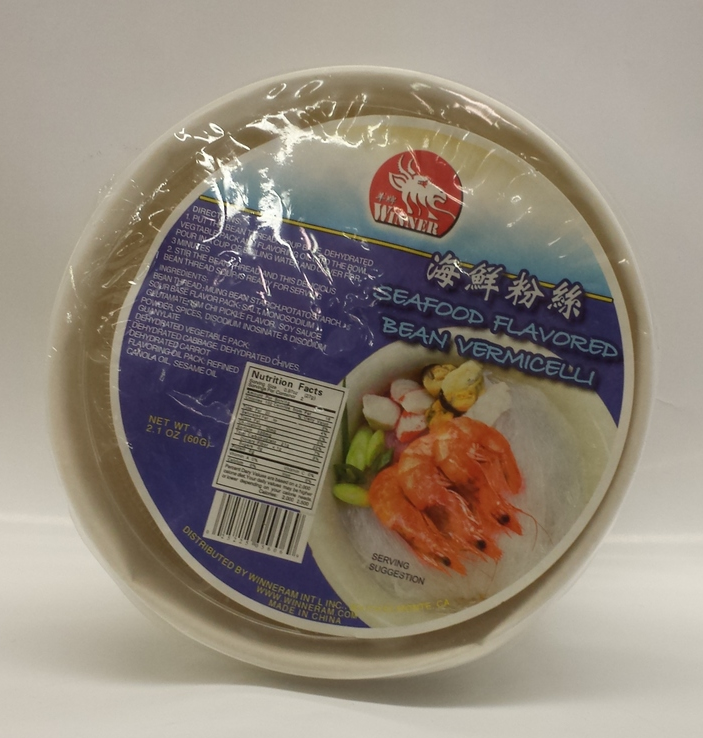 Instant Bean Thread Bowl, Seafood   Winner   ND11396 12x60 g