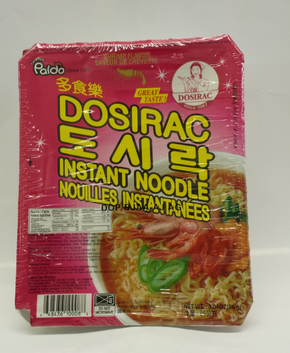 Dosirac Bowl Noodle, Shrimp   Paldo   ND11420 12x3 oz
