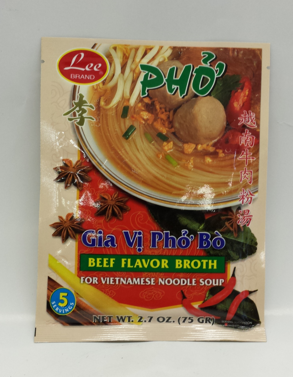 Instant Beef Brother (Gia Vi Pho Bo)   Lee   SE18210 2x30x2.7 oz