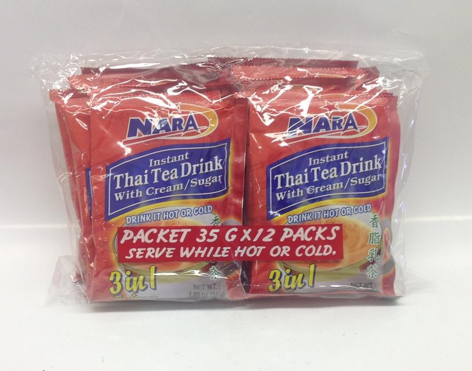Instant Thai Tea Mixed 3 in 1   Nara   DKT1380 30x12 bags