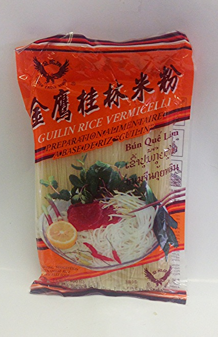 Guilin Rice Vermicelli    G. Eagle   RV13410 60x14 oz, Fine  RV13411 60x14 oz, Large  RV13413 60x14 oz, X-Large