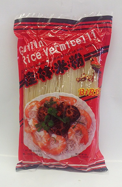 Guilin Rice Vermicelli    Bird's   RV13300 60x14 oz, Small  RV13302 60x14 oz, Large