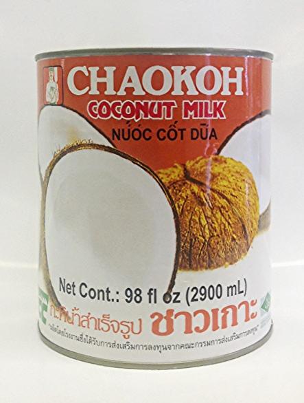 Coconut Milk    Chaokoh   CM11232 6x5 lbs  CM11233 24x19 oz