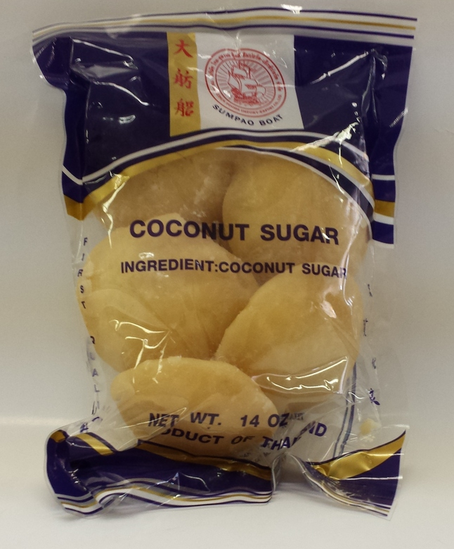 Coconut Sugar, Round   Sumpao Boat   SU16105 36x14 oz