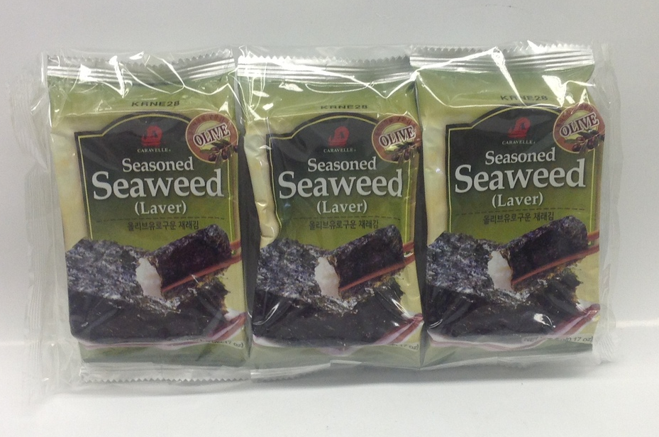 Roasted Seasoned Seaweed   Korea   DRV7208 24 bags x 3 x 5 g