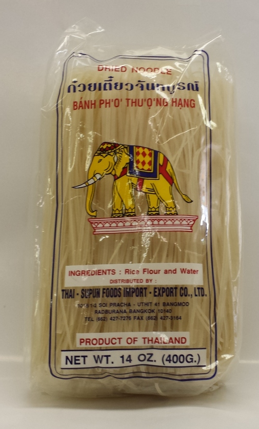 Rice Stick   R. Elephant   RS16200 30x14 oz (small)  RS16201 30x14 oz (Med.)  RS16205 30x14 oz (X-large)