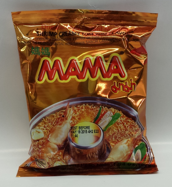 Noodle Shrimp Creamy (Tom Yum)   Ma Ma   ND19511 6x30x1.9 oz