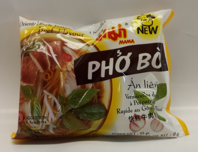 Ma Ma Chand Noodle, Beef (Pho Bo)   Ma Ma   ND21104 6x30x1.9 oz