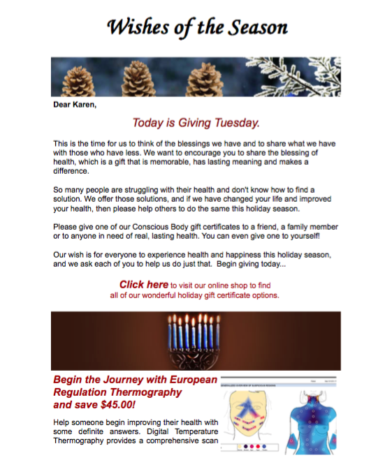 Our Holiday Newsletter November 2015