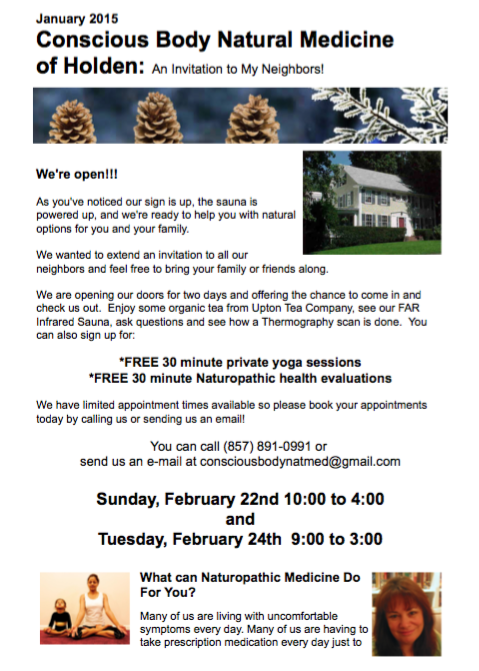 Open House Invitation January 2015