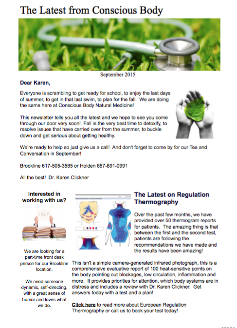 Fall Newsletter September 2015