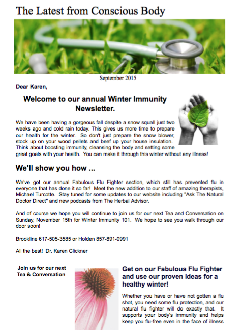 Pre-Winter Newsletter November 2015