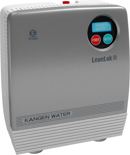 The Leveluk R personal drinking water machine with 3 solid platinum ionizing plates.