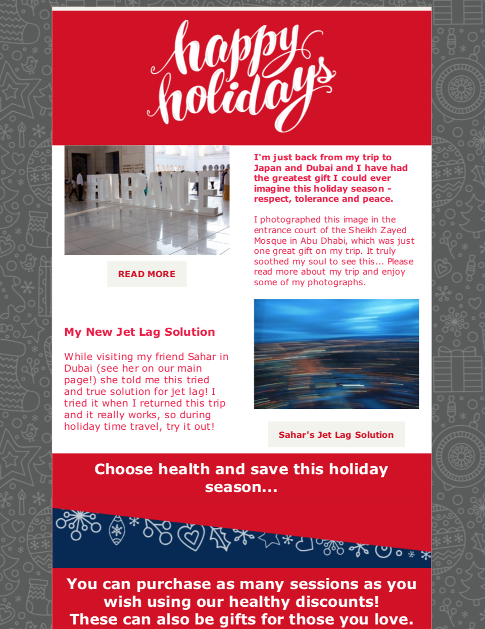 Healthy Holiday Thoughts 2018