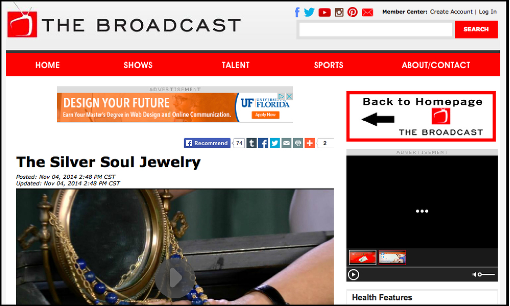 The Broadcast |  The Silver Soul Jewelry